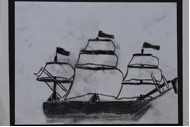 SHIPS IN CHARCOAL