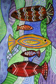 TINT AND SHADE FISH PAINTING