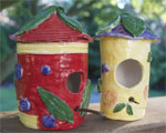 CLAY BIRDHOUSES